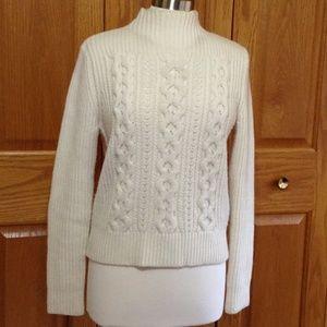 PINK TARTAN - Cabled Wool Sweater - Good Shape!